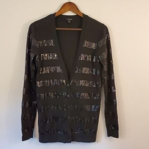 Ann Taylor cardigan Merino wool with sequins small